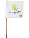 White Mini Flag - Sunbeam Logo