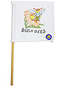 White Mini Flag - Busybee Logo