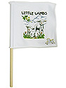 White Mini Flag -  Little Lamb Logo
