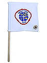 White Mini Flag - Adventurer Club Logo