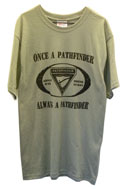 Once a Pathfinder Always a Pathfinder T-Shirt- Black Logo on Many Shirt colors -$6.00 & UP
