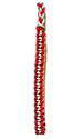 Red OUT & Gray  IN Braided Shoulder Cord
