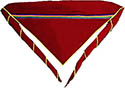 6 Class Maroon Embroidered Scarf- no logo - add yours