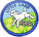"3yr olds-Little Lamb Round Kids Patch - 2""-wrightpublications.org program"