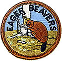 "2"" - Round Eager Beaver Beret Patch"