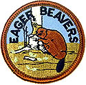 "5yr old-Eager Beaver Round Kids Patch - 2"" -wrightpublications.org program"