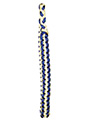 Royal Blue OUT & White IN Braided Shoulder Cord