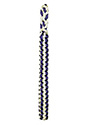 Purple & White Braided Shoulder Cord