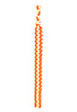 Orange & White Braided Shoulder Cord