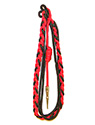 Red & Black Citation Cord (4 Strand)-BK,BK LOOP,BK STRAND