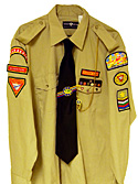 View of Master Guide Uniform Shirt and Accessories