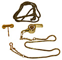 Gold Adventurer Deluxe Whistle - Chain & Engravable Hook Holder