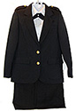 100% POLYESTER ADV or PF  DIRECTOR OR STAFF  LADIES NAVY OR BLACK  JACKET & SKIRT