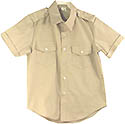AMERICAN MADE Teen girls, Ladies,- Short Sleeve Class A Uniform S/S Shirt- Tan