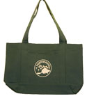 Eager Beaver Front Pocket Staff Totebag - Dark Green
