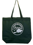 Eager Beaver Staff Zippered Totebag - Dark Green