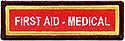Custom PF Title Strip -  First Aid-Medical -iron or sew on