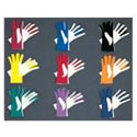 2 color nylon gloves - $9.00 OR solid Red, Royal, Black, Maroon , White Gloves