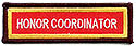 Custom PF Title Strip- Honor Coordinator - iron or sew on