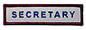 Semi-Custom Adv Sleeve Title Strip - Secretary