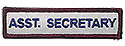 Semi-Custom Adv Sleeve Title Strip - Asst. Secretary