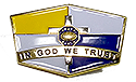 "MG IN GOD WE TRUST PIN 1.25""  YEL/ RB"