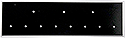 "Blank 11 hole pin display black- Black  3 top/ 8 bottom-1 1/4"" x 4 3/4"""
