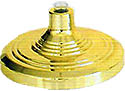 GOLD FLAG POLE FLOOR STAND BASE