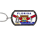 Florida Pathfinder Dog Tag - Keychain - Zipper Pull