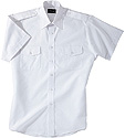 AMERICAN MADE Boys, Teen, Men's Short Sleeve Class A Shirt With Epaulets White $22 & up
