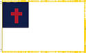 CHRISTIAN FLAG 3' X 5' INDOOR  WITH FRINGE - POLE POCKET