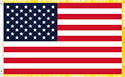 INDOOR- EBROIDERED USA FLAG 3'x5'- FRINGE- POLE POCKET