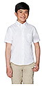 BOYS WHITE CLASS A SHIRTS - SHORT SLEEVE
