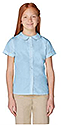 Peter Pan Collar Girls Shirt - Lt Blue $9.99 and up