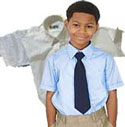 Boys Light Blue or White Class A Short Sleeve Shirt
