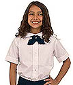 PETER PAN COLLAR  GIRLS SHIRT - WHITE
