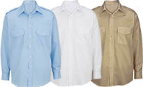 BOYS & MENS- Long Sleeve Class A Shirt - White,TAN,Blue