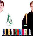 CITATION CORDS - 4 STRANDED CORD SHOWN ON WHITE UNIFORM WITH SILVER OR GOLD TIP