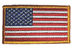 "2"" X 3"" USA patch Left sleeve"